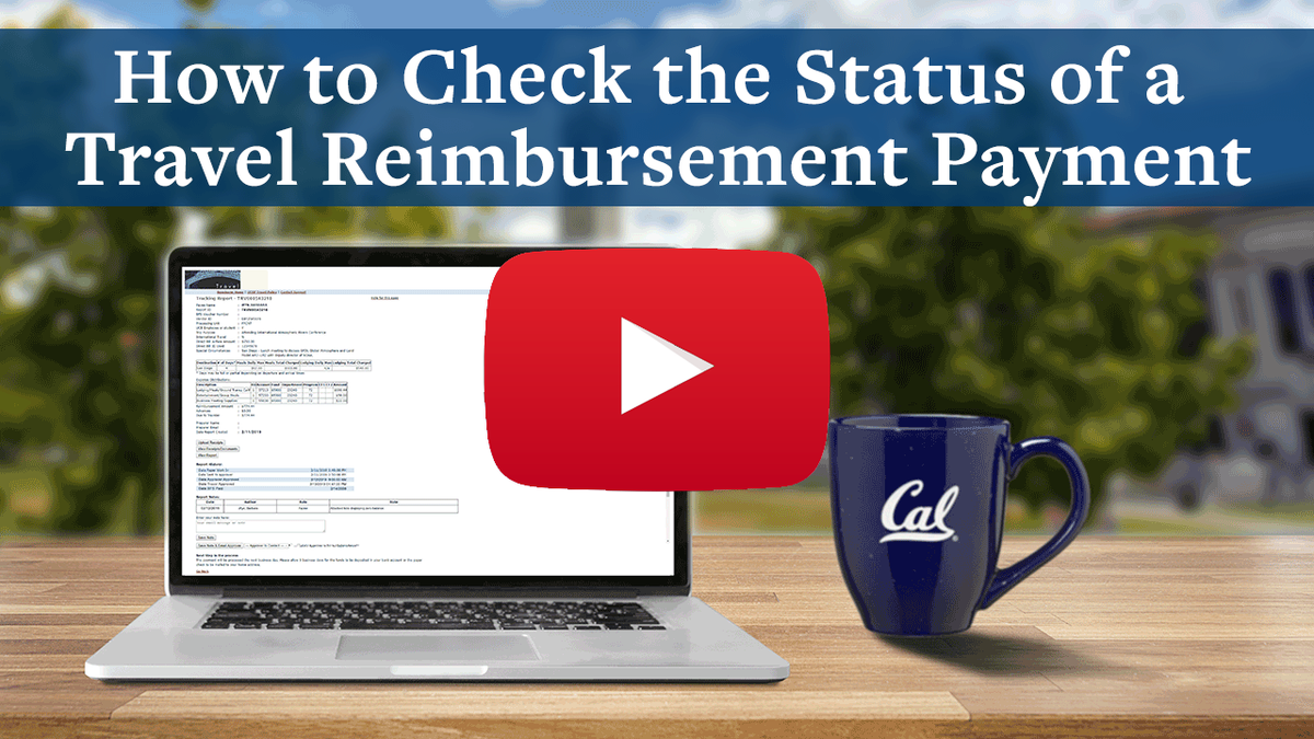 How to check the status of a travel reimbursement payment