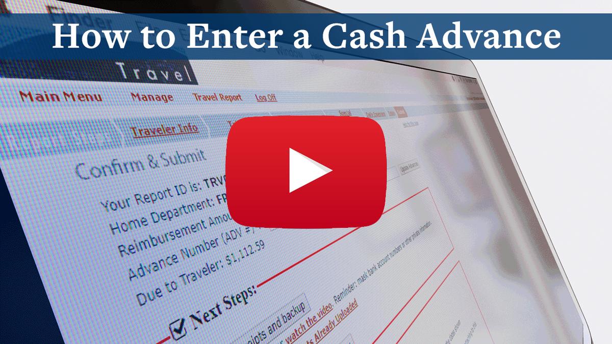 How to Enter a Cash Advance