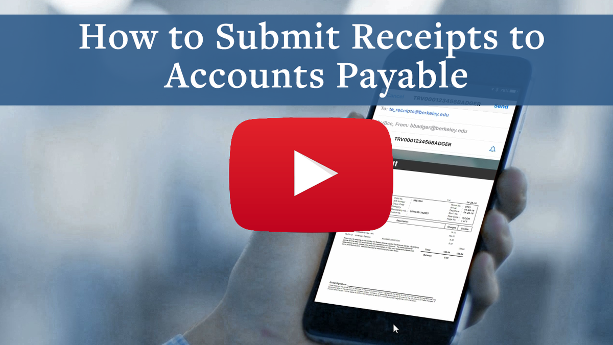 How to Submit Receipts to  Accounts Payable